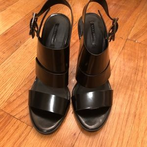 Black 4 inch Zara shoes
